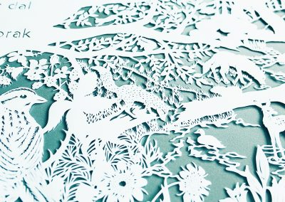 Commissioned papercut - Publisher Plint - Window Poem Detail