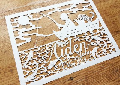Custom Papercut Hilary - Aiden total left - Whispering Paper
