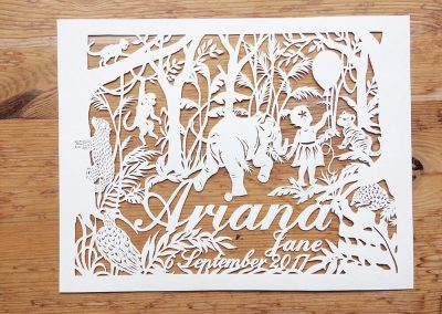Custom Papercut Hilary - Ariana Total on Wood - Whispering Paper