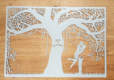 Commission Papercut Elizabeth - Layer one - Whispering Paper
