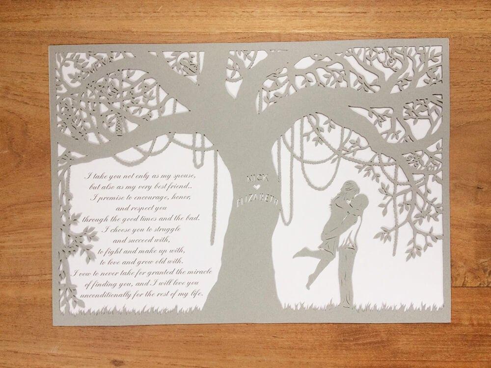1st Anniversary - Mardi Gras Lovers - Whispering Paper