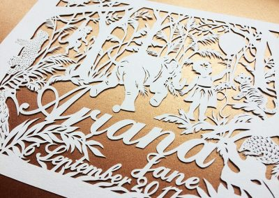 Custom Papercut Hilary - Ariana Detail right - Whispering Paper
