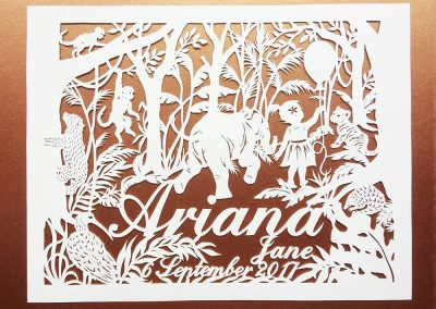 Custom Papercut Hilary - Ariana Total on Gold - Whispering Paper