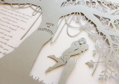 Commission Papercut Elizabeth - Detail from right