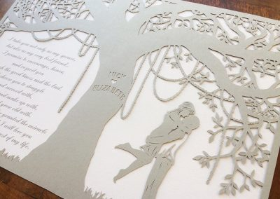 Commission Papercut Elizabeth - Layers  from right