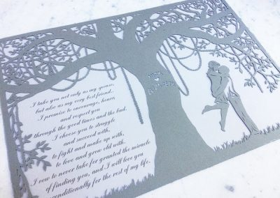 Commission Papercut Elizabeth - on Marble -Whispering Paper
