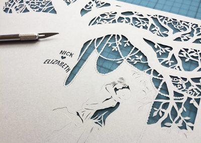Commission Papercut Elizabeth - Detail work in Progress
