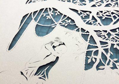 Commission Papercut Elizabeth - Work in Progress couple
