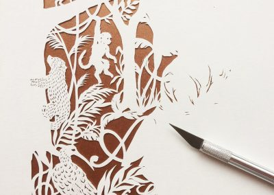 Custom Papercut Hilary - Ariana Work in Progress Front - Whispering Paper