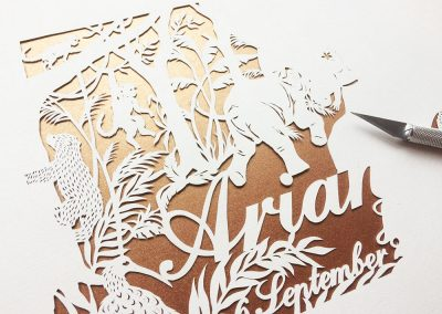Custom Papercut Hilary - Ariana Work in Progress Front Left - Whispering Paper