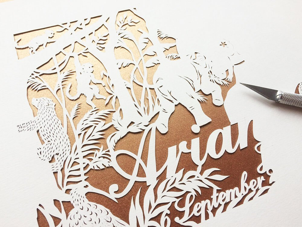 Custom Made Papercutting - Work in Progress