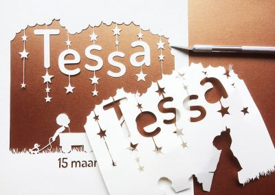 Custom Birth Announcement - Tessa - Work in Progress - Whispering Paper