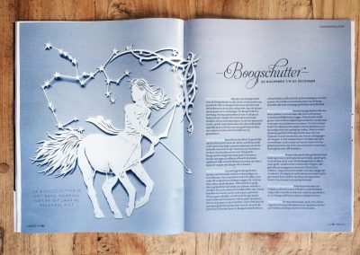 Papercut Illustrations for Libelle Magazine - Magazine - Sagittarius