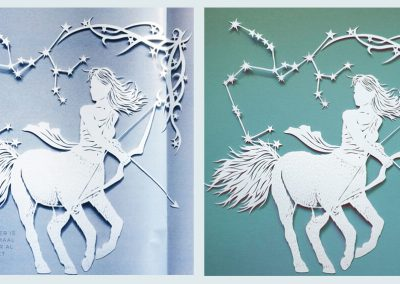 Papercut Illustrations for Libelle Magazine - 2: Sagittarius Magazine & Original