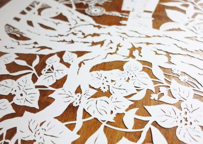 Wedding Anniversary Papercut - Ibiza - Detail Bougainville