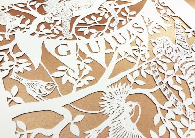 Custom Birth Announcement - Guus - Detail middle on Gold - Whispering Paper