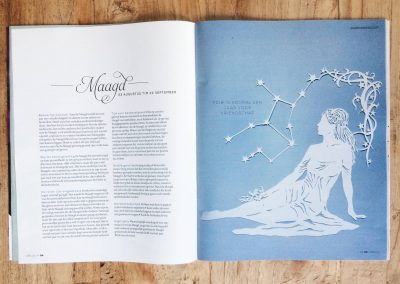 Papercut Illustrations for Libelle Magazine - Magazine - Virgo
