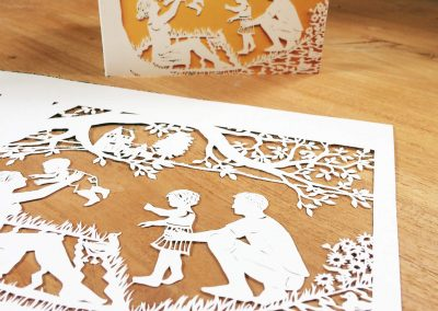 Papercut Birth Announcement - Aksel - Original with card side2