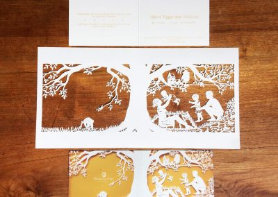 Papercut Birth Announcement - Aksel - Original with card total - blurred details
