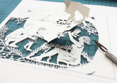 Papercut Birth Announcement - Aksel - Work in Progress3