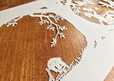 Papercut Birth Announcement - Aksel - detail toys