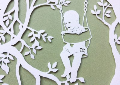 Papercut Gift for a Nanny - Detail boy