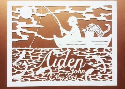 Papercut Hilary - Aiden - total Gold - Whispering Paper