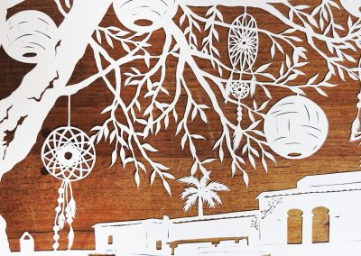 Wedding Anniversary Papercut - Ibiza - Detail Dreamcatchers