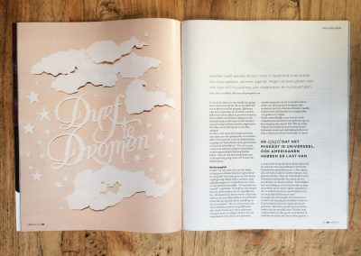 Papercut Illustrations for Libelle Magazine - Magazine - Dare to Dream