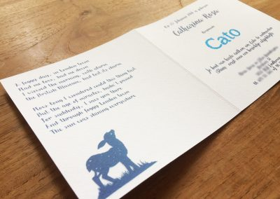 Custom Birth Announcement Cards - Fairytale Forest - Cato - Card side interior