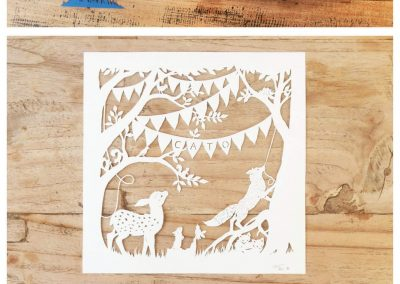 Custom Birth Announcement Cards - Fairytale Forest - Cato - 2: Cards & Papercuts