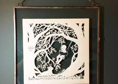 Papercut Gift for a Nanny - Framed