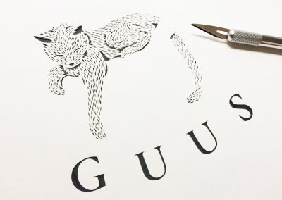 Custom Birth Announcement - Guus - Work in Progress 2 - Whispering Paper