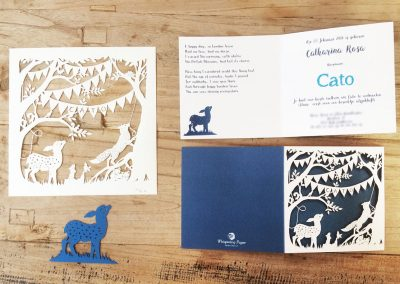 Custom Birth Announcement Cards - Fairytale Forest - Cato - Cards and Papercuts