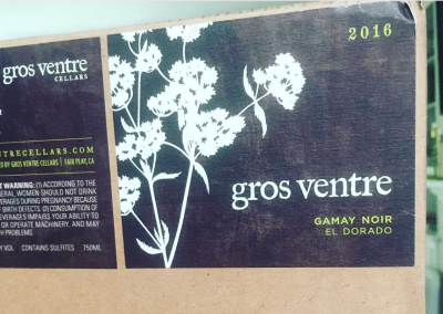 Gros Ventre Wine Labels - New Label Print
