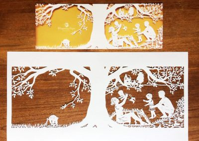 Papercut Birth Announcement - Aksel - Original with Card total