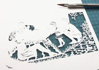 Papercut Birth Announcement - Aksel - Work in Progress 2