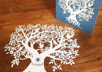 Personal Birth Announcement with Lifetree - Noran - Papercut with Card 2