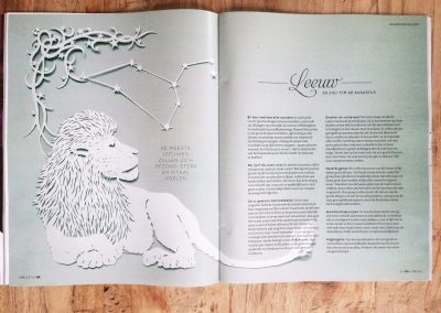 Papercut Illustrations for Libelle Magazine - Magazine - Leo