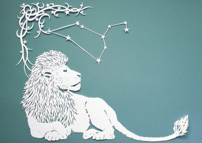 Papercut Illustrations for Libelle Magazine - Leo