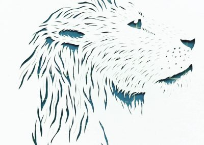 Papercut Illustrations for Libelle Magazine - Work in Progress - Leo