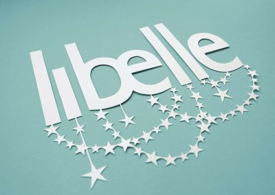 Papercut Illustrations for Libelle Magazine - Logo