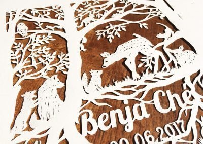 Custom Papercut Newborn Baby Boy - Bottom Side