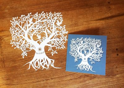Personal Birth Announcement with Lifetree - Noran - Papercut with Card 3