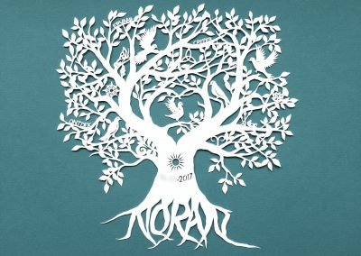 Personal Birth Announcement with Lifetree - Noran - Total Papercut