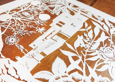 Wedding Anniversary Papercut - Ibiza - Detail from left