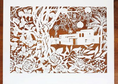 Wedding Anniversary Papercut - Ibiza - Total on wood