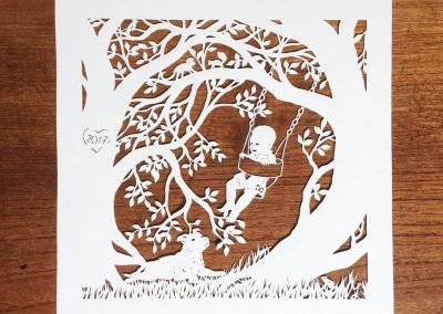 Papercut Gift for a Nanny - Total Square