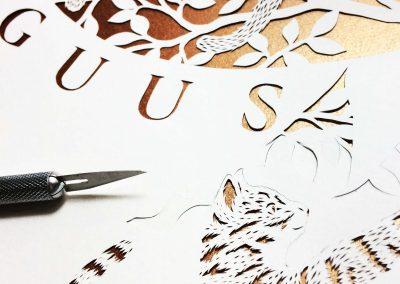 papercut emke - wip katten naam en vogels