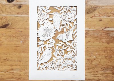 Bespoke Papercut - Flowers and Birds - Total Papercut